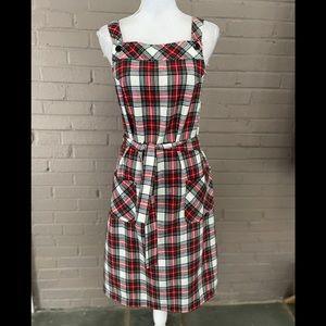 Vintage Sears Plaid Overall Dress  Junior 9